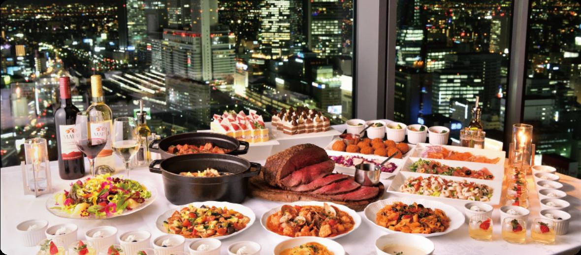 名古屋プリンスホテル スカイタワー「Sky Dining 天空」グラスワインサービス
